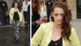 Kristen Stewart Goes Black, White, and Printed in Paris