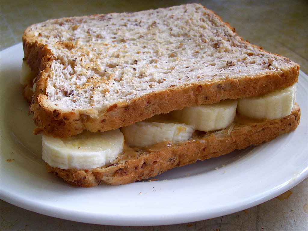 Nut Butter and Banana on Whole Wheat