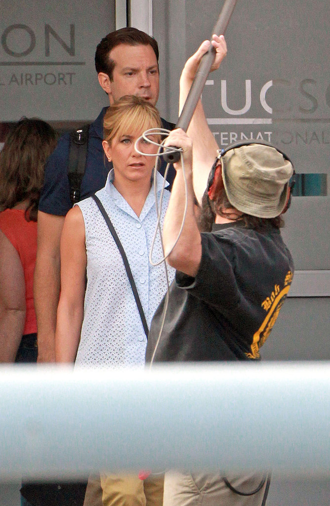 Jennifer Aniston Stays Grounded While Filming at the Airport