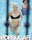 Gwen Stefani soaked up the sun in a sexy bikini during a trip to Palm Springs, CA, in March 2010.