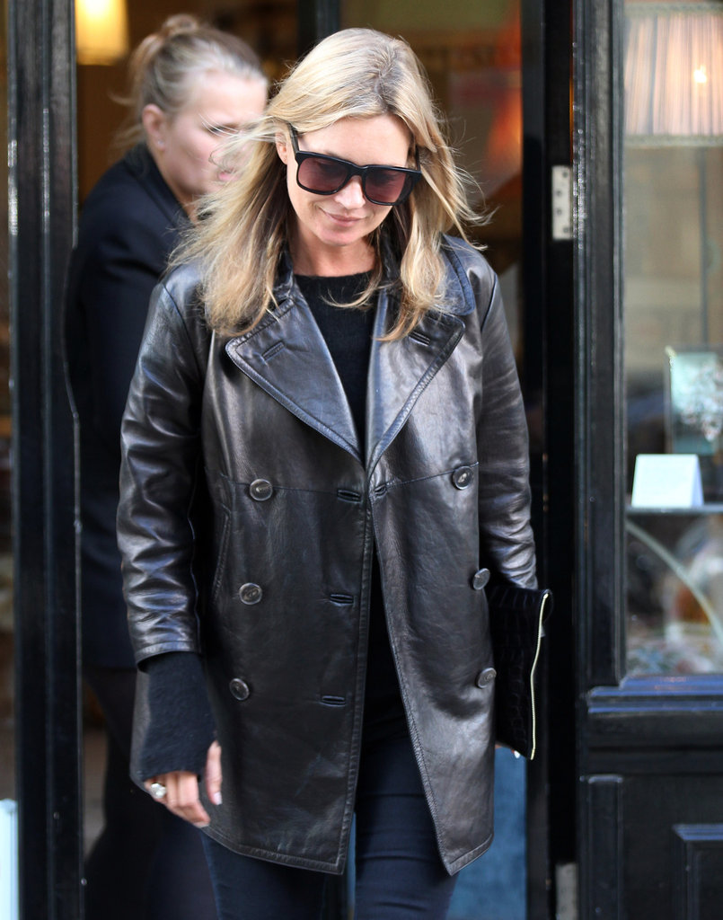 Kate Moss walked in Primrose Hill.