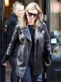 Kate Moss Celebrates Jamie Hince's Book Launch in Black Leather