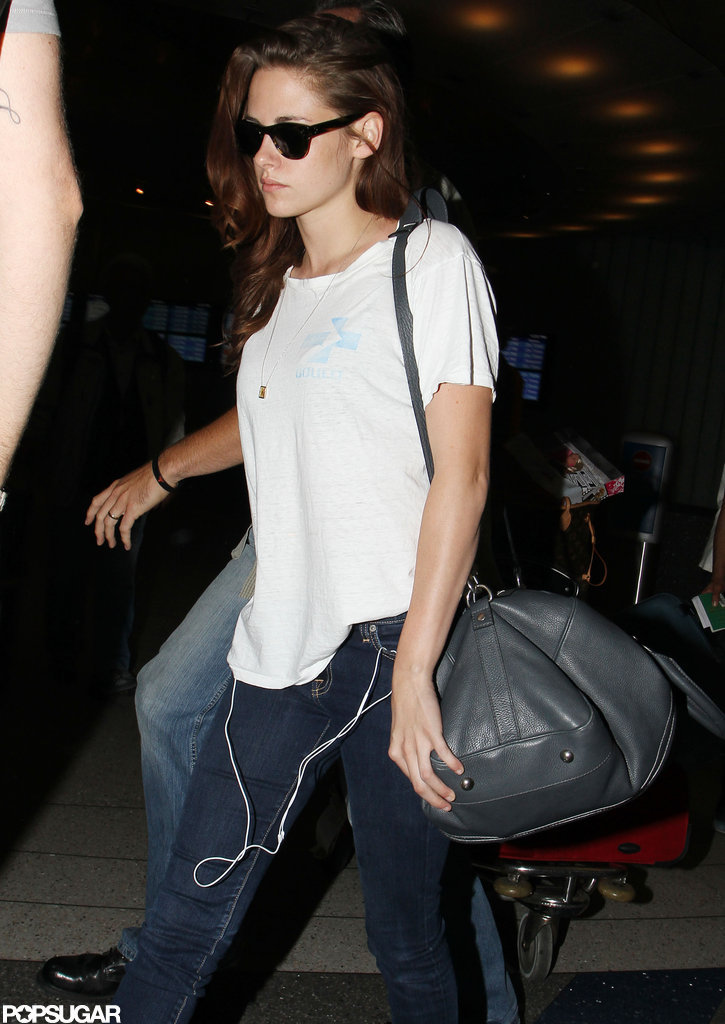 Kristen Stewart headed out of the airport.