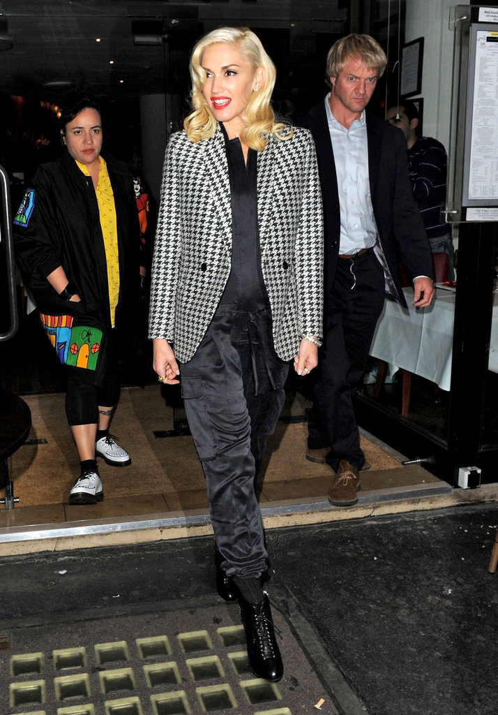 Gwen Stefani had a night out in London.