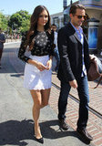 Nina Dobrev walked through The Grove.