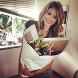 Jesinta Campbell was the lucky recipient of a suprise bunch of beautiful flowers. Source: Instagram user jesinta_campbell