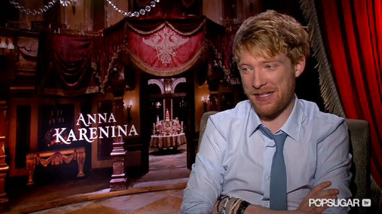 "Domhnall Gleeson on His Anna Karenina Character: ""It's Easy to Get on His Side"""