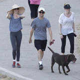 Anne Hathaway and Adam Shulman took their dog for a walk in LA in September 2012.