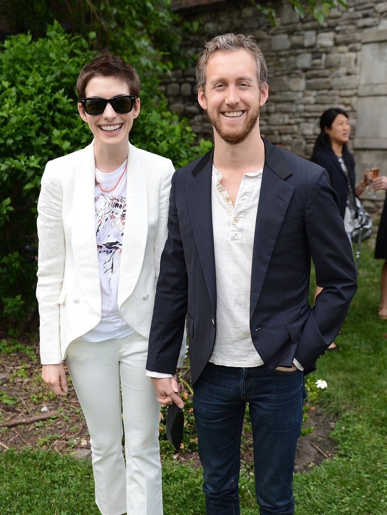 Anne Hathaway had Adam Shulman by her side for Stella McCartney's presentation in NYC in June 2012.