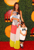 Alessandra Ambrosio dressed up her little ones, Anja and new addition Noah, to attend the Veuve Clicquot Polo Classic in LA.