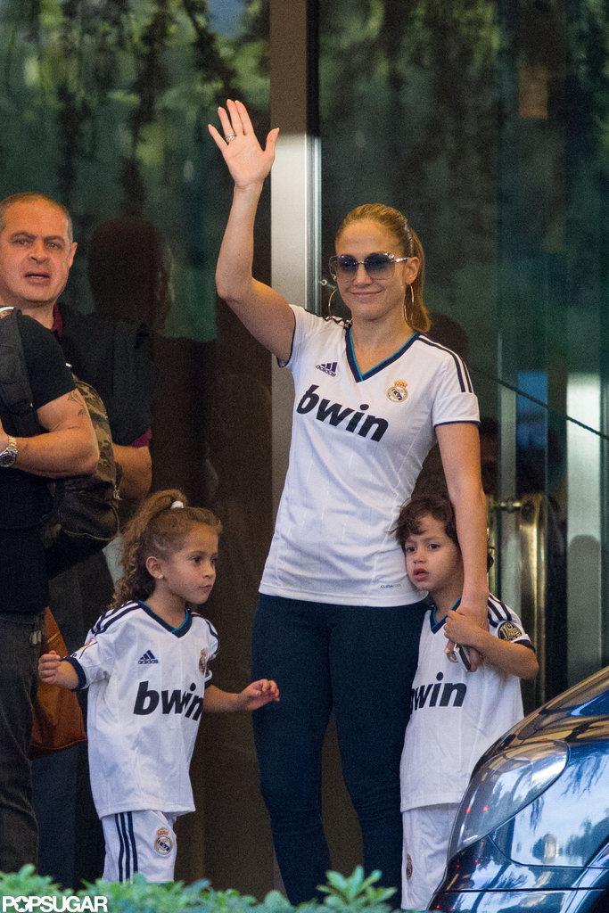 Jennifer Lopez Brings Her Twins For a Sporty Soccer