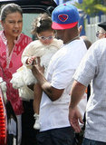 Nick Cannon held Monroe Cannon at the Santa Monica Pier.