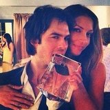 Ian Somerhalder took a bite out of his EMI Award. Are people just constantly handing him stuff to bite? Source: Instagram user ianjsomerhalder