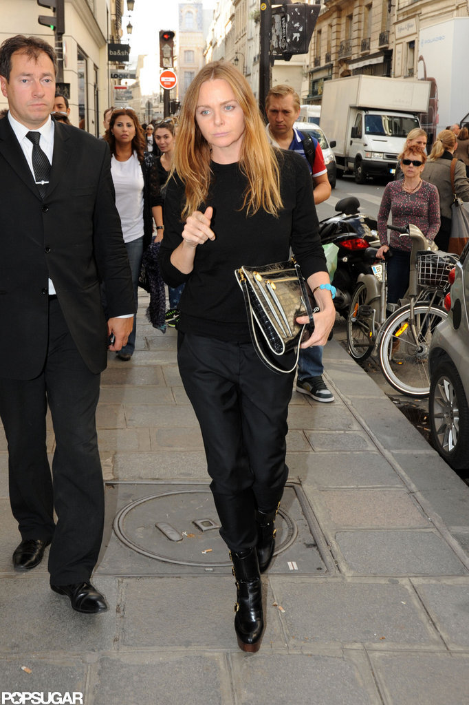 Stella McCartney walked through Paris.
