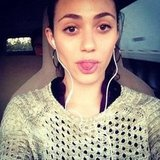 Emmy Rossum stuck her tongue out. Source: Instagram user emmyrossum