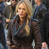 Blake Lively Filming Gossip Girl on Set
