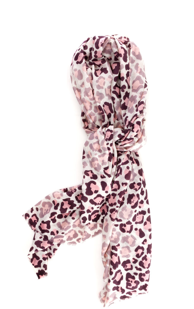 This Yarnz Pink Leopard Faded Scarf ($215) will add a pop to every outfit, and 30 percent of proceeds will benefit the Breast Cancer Research Foundation.