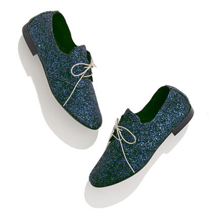 It would be a mistake to reserve these Anniel Glitter Oxfords ($221) for your dressy occasions; they would lend a fun sparkle to your everyday looks, too.