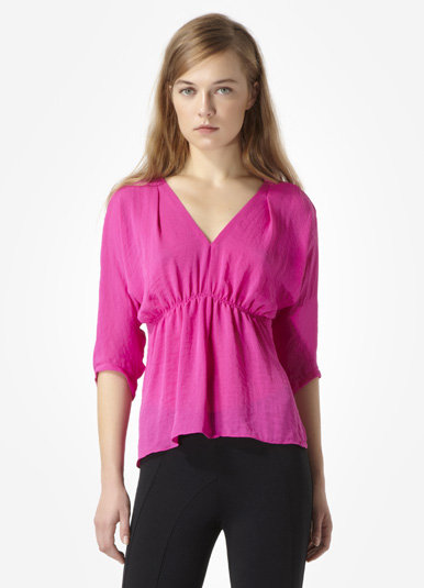 This Rebecca Taylor Solid Silk Blouse ($225) is a guilt-free way to add some color to your Fall wardrobe. Fifty percent of the proceeds from this pretty top will go directly to the Triple Negative Breast Cancer Foundation.