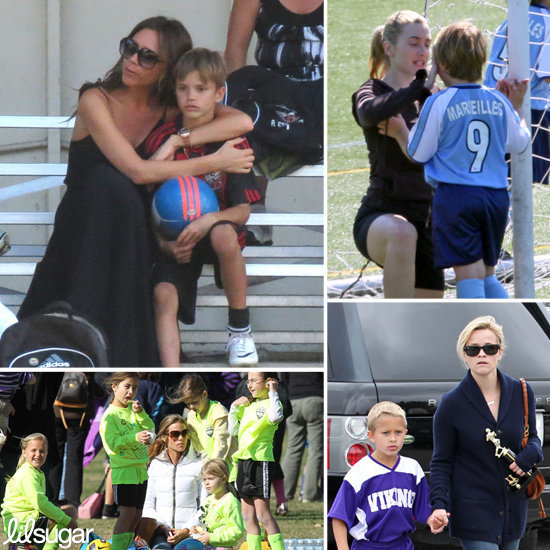 Hollywood Soccer Moms Go Easily From the Red Carpet to the Sidelines