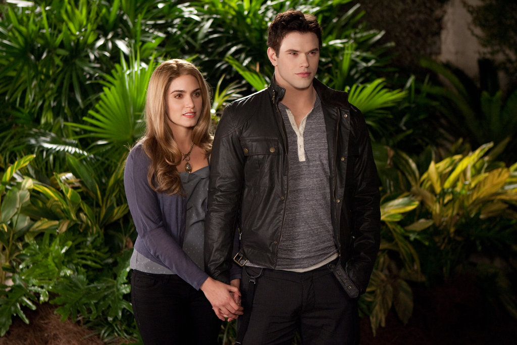 Rosalie and Emmett hold hands in Breaking Dawn Part 2.