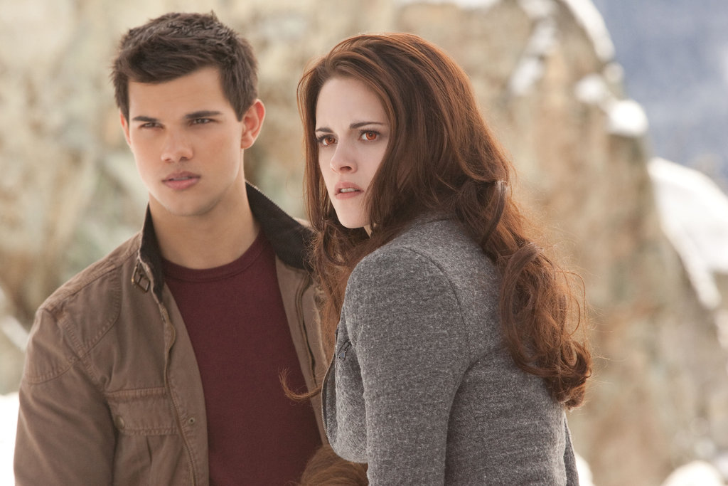 Bella shares a moment with Jacob in Breaking Dawn Part 2.