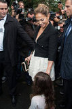 Jennifer Lopez and her daughter Emme arrived at Chanel's show for Paris Fashion Week.