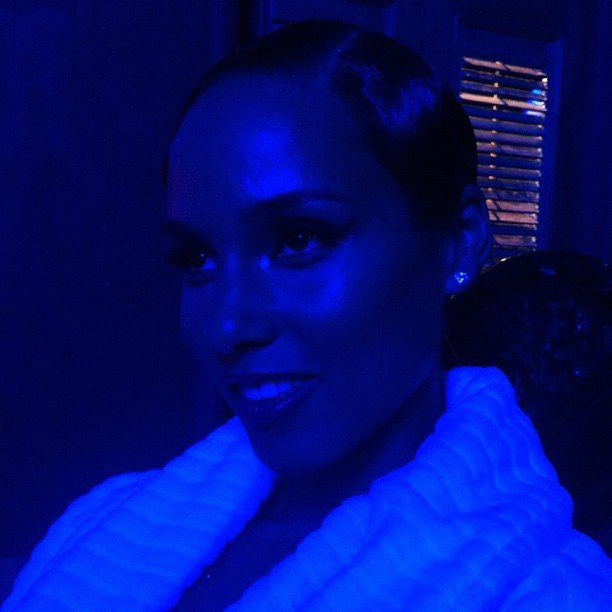 "Alicia Keys filmed the video for her latest single, ""Girl on Fire."" Source: Instagram user aliciakeys"