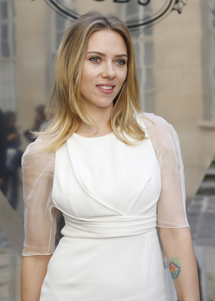 Scarlett Johansson attended the Tod's party in Paris.