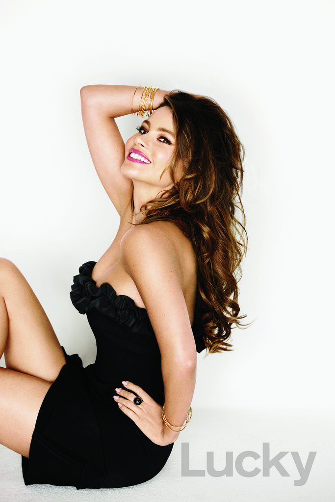 Sofia Vergara is featured in Lucky's November 2012 issue.