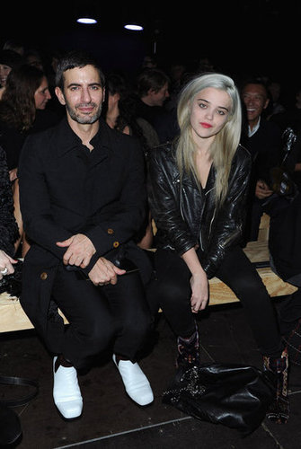 Marc Jacobs and Sky Ferreira — both clad in slick black uniforms — sat front row at Saint Laurent.
