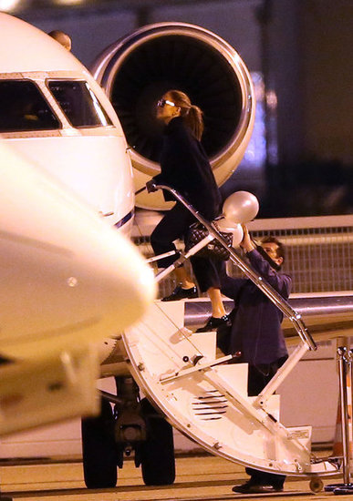 Jennifer Lopez got on her jet.