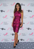 Elizabeth Hurley brought her support to Toronto at Estée Lauder's breast cancer awareness campaign event in October.