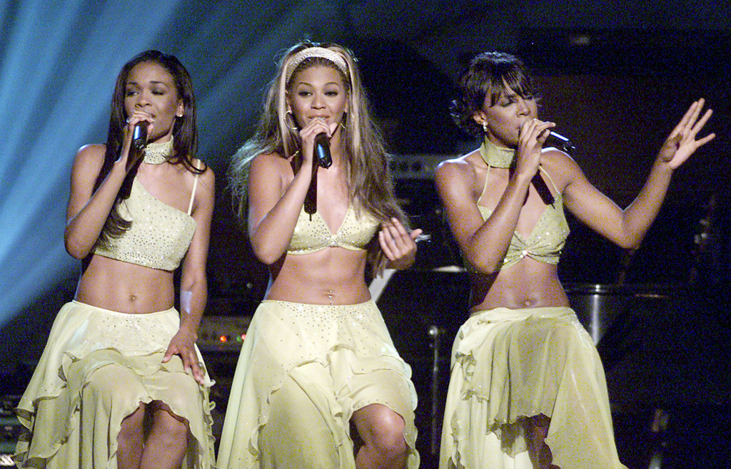 Beyoncé Knowles and her Destiny's Child bandmates Kelly Rowland and Michelle Williams sung their support at a concert to raise awareness for the fight against breast cancer in LA in October 2000.