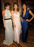 In April 2007, Vanessa Minnillo, Elizabeth Hurley, and Rosario Dawson partied it up at the Hot Pink Party to benefit breast cancer research in NYC.