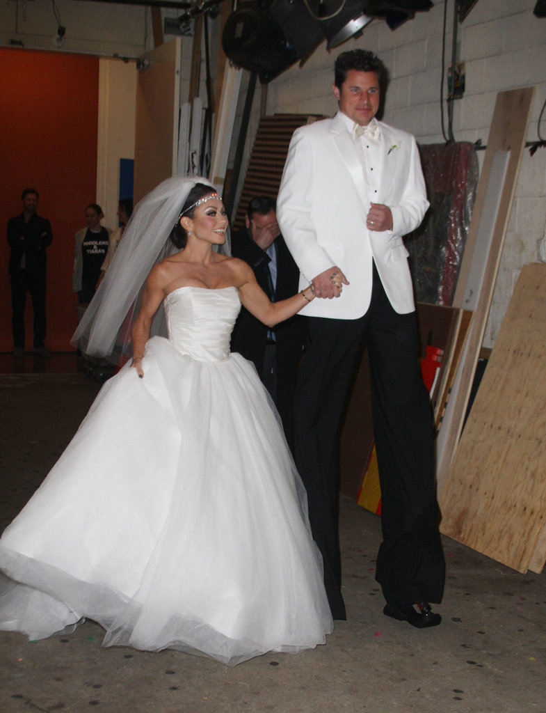 In 2011, Kelly Ripa joked around with Nick Lachey to parody Kim Kardashian on her wedding day with Kris Humphries.