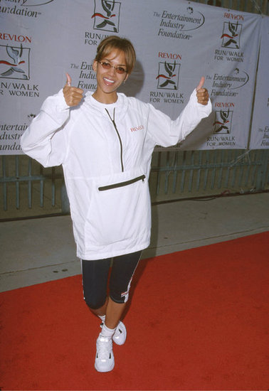 In May 1999, Halle Berry showed her enthusiasm at the Revlon Run/Walk For Women event in LA.