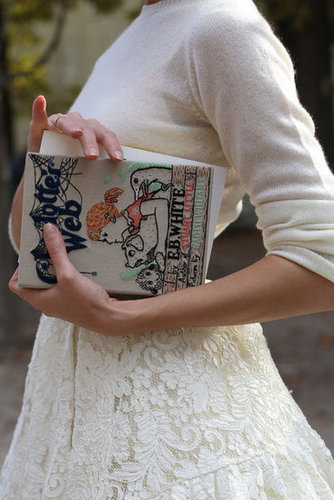 A sweet literary clutch made for a smart accessory — quite literally.
