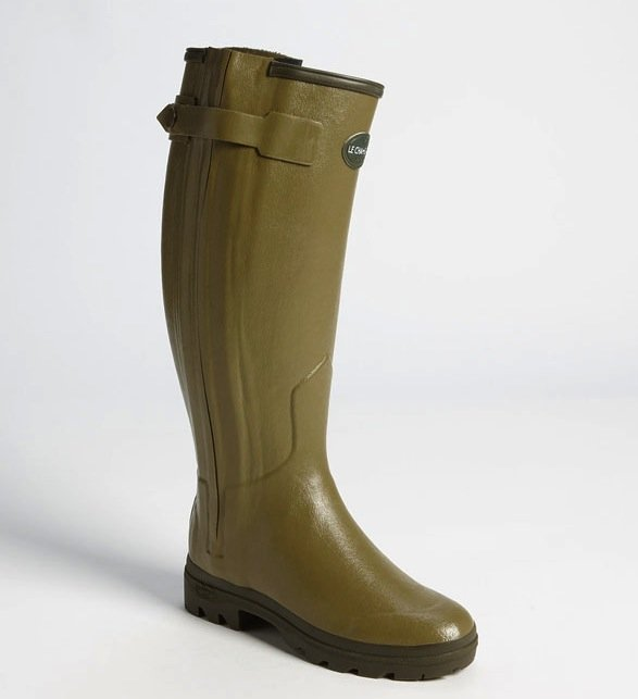 This boot became a household name the moment Kate Middleton was spotted wearing the classic Le Chameau olive green boots ($480). Follow suit on her classic style . . . we would.