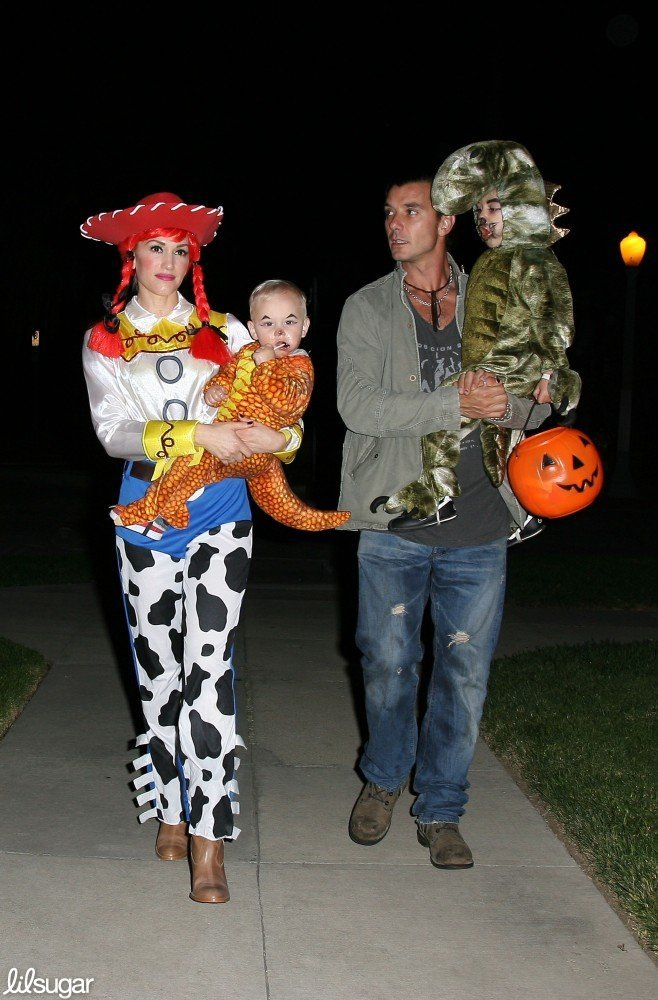 Gwen Stefani With Kingston, Zuma, and Gavin Rossdale