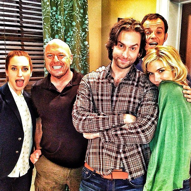 Whitney guest star Dean Norris posed with Chris D'Elia and the rest of the cast. Source: Instagram user chrisdelia