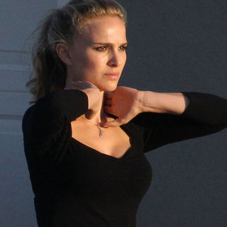 Natalie Portman Films a Movie in Austin With Blond Hair