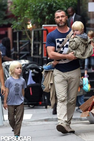 Liev Schreiber Spends His Birthday Week With the Boys