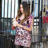 Sofia Vergara Wearing a Baby Bump on Modern Family Set
