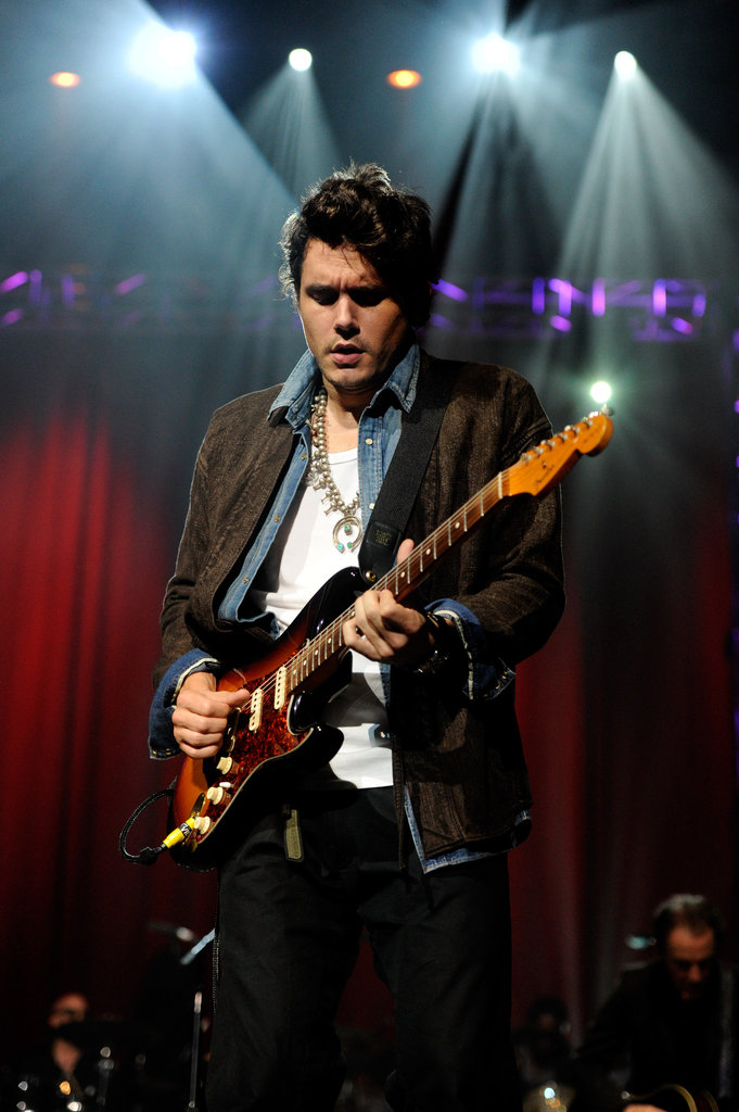 John Mayer got really into the performance.