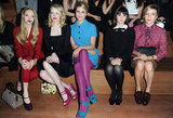 Amanda Seyfried, Emma Stone, Dianna Agron, Felicity Jones and Chloë Sevigny made up the front row at Miu Miu.