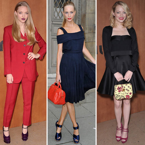 Pictures of Celebrities Front Row at Paris Fashion Week: Emma Stone, Amanda Seyfried, Poppy Delevingne and more!