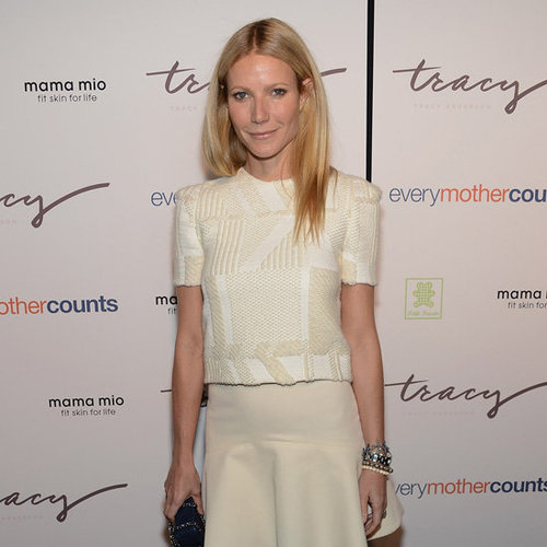 Gwyneth Paltrow Wearing Ivory Skirt