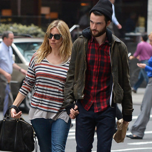 Sienna Miller And Tom Sturridge Walking In New York City