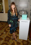 Jessica Biel posed with a Tiffany & Co. display.